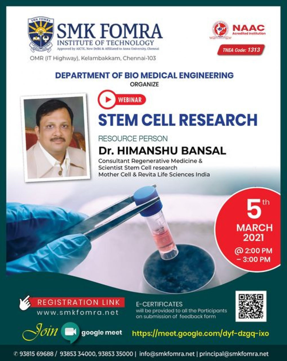 webinar on stem cell research