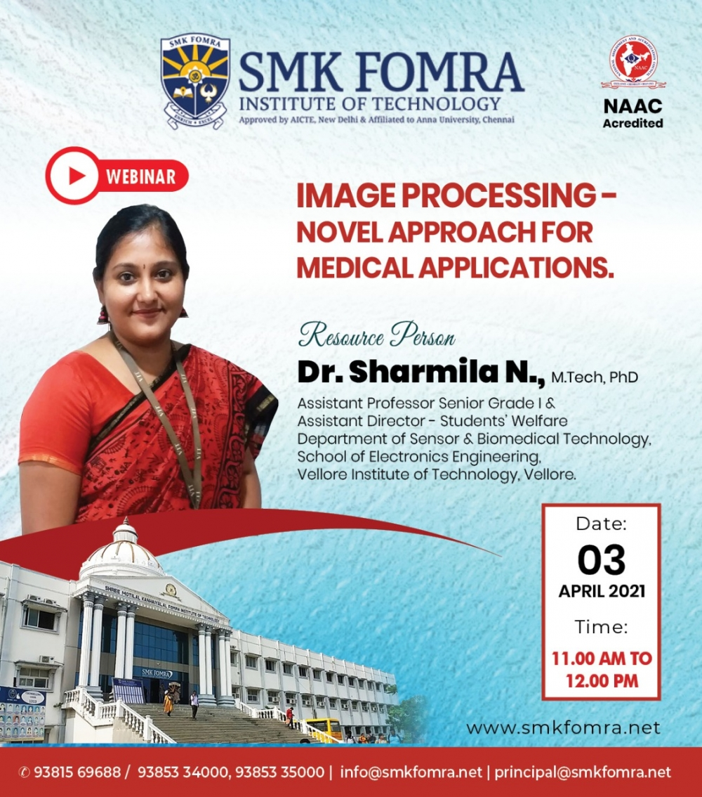 webinar on image processing novel approach for medical applications